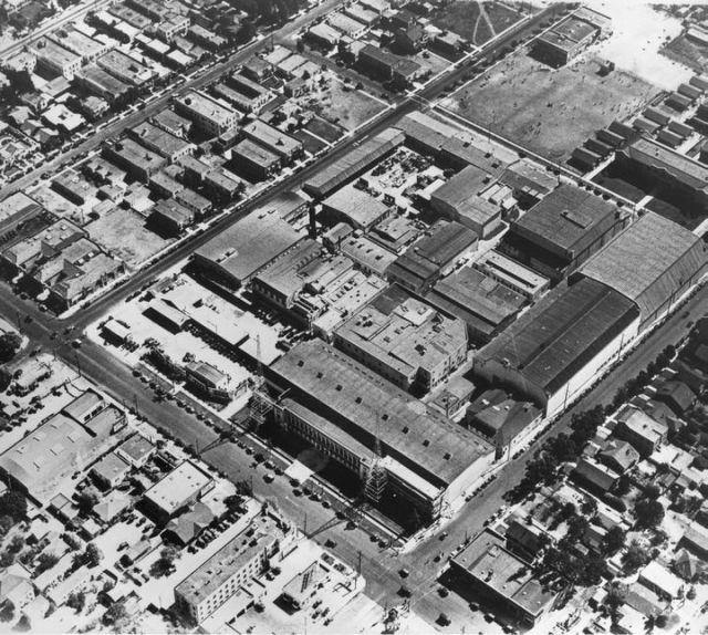 Aerial shot of Warner Bros. Studios On Sunset Blvd. 1928