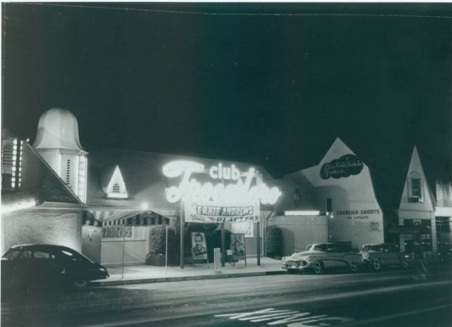 Club Trocadero, 8524 Sunset Blvd, West Hollywood, circa late 1950s