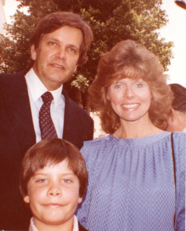 Eleanor Powell and Glenn Ford's son, Peter and family 15FEB1984