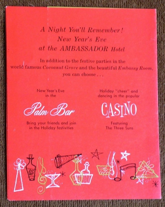 New Year's Eve December 31, 1960 at the Ambassador Hotel -5