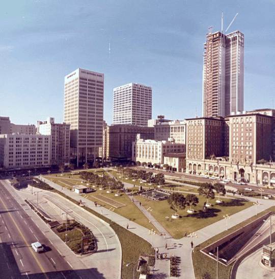 Pershing Square in downtown Los Angeles, 1968