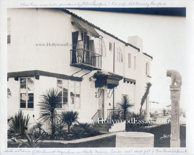Louis B. Mayer's home at 625 Palisades Beach Rd, Santa Monica, built 1936
