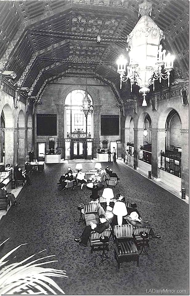 Foyer of the Biltmore Hotel, downtown Los Angeles