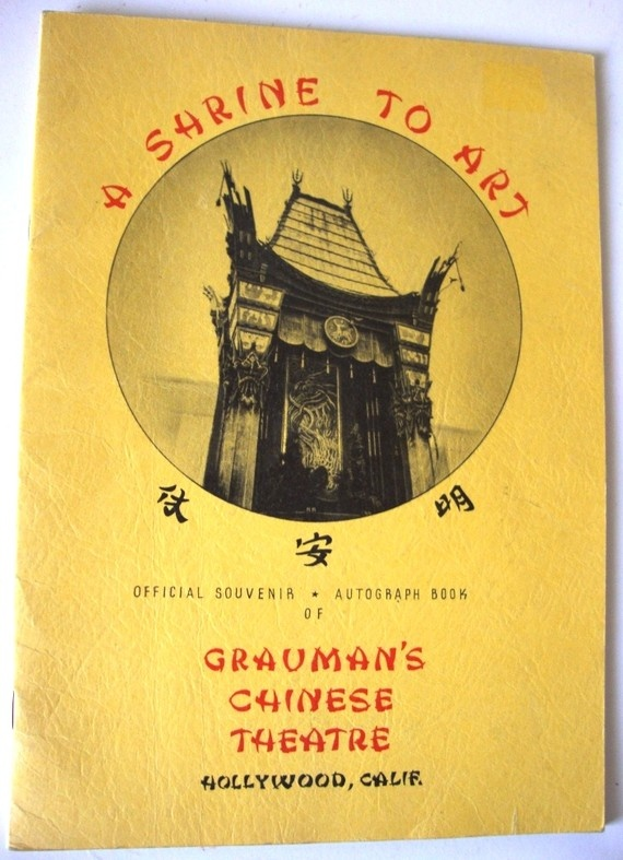 "Grauman's Chinese Theatre  ""Official Souvenir & Autograph Book"""