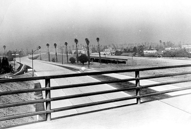 The 101 Hollywood Freeway from the Vermont Bridge, September 1951