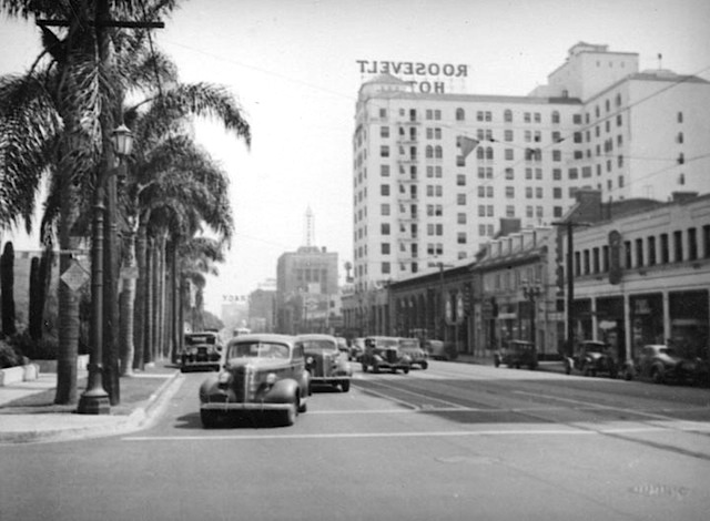 View of Hollywood Boulevard from around Sycamore Ave, circa 1930s.