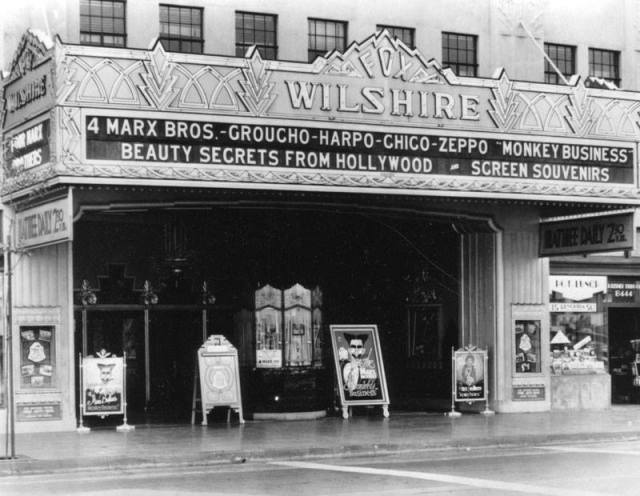 Fox Wilshire Theater on Wilshire Blvd, Los Angeles, 1931