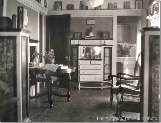 Inside the home of murdered director William Desmond Taylor at 404 S. Alvarado St, Los Angeles