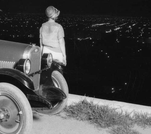 Looking at the lights of Hollywood circa 1926