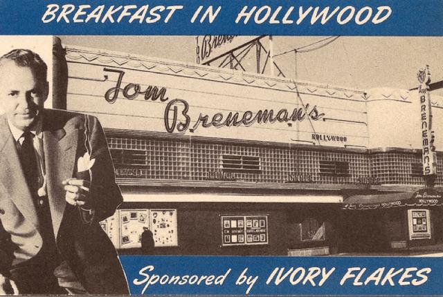 """Tom Breneman's """"Breakfast in Hollywood"""" - sponsored by Ivory Flakes"""