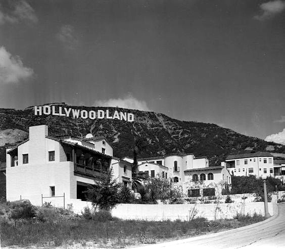The original Hollywoodland sign, Mt. Lee, Hollywood, circa 1920s