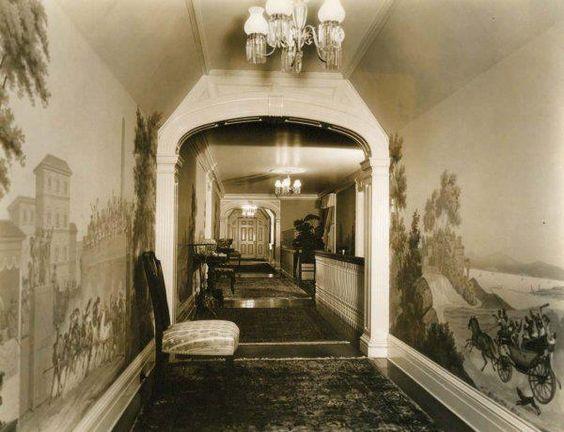 Marion Davies Santa Monica Beach house- hallway