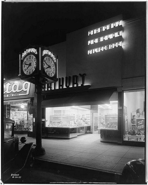 Arthur's Jewelry Store, Huntington Park, California, 1937