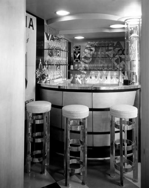The bar at Irving Thalberg's beach house, Santa Monica, circa 1930