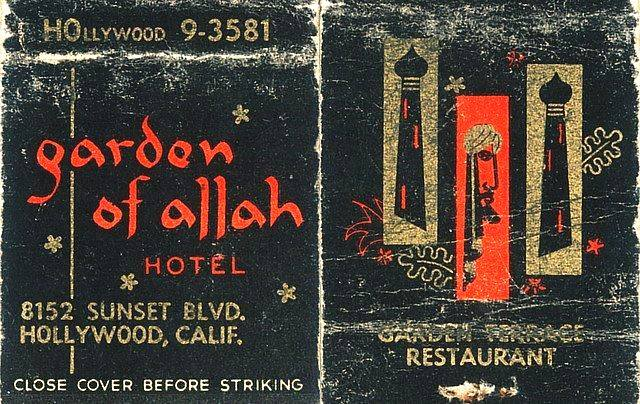 Garden of Allah Hotel matchbook