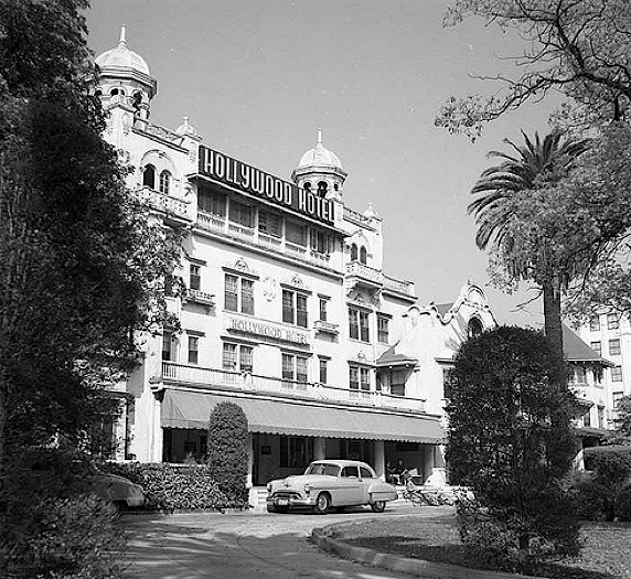 Hollywood Hotel, corner of Hollywood and Highland, March 10, 1956