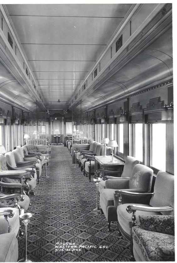 Interior of Western Pacific observation car