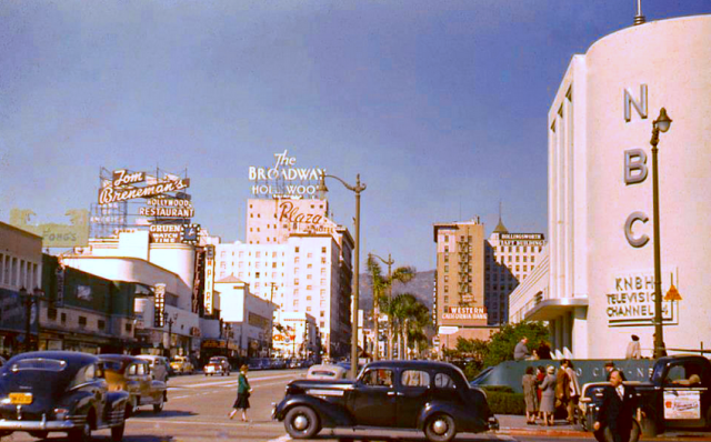 NBC studios at Sunset Blvd and Vine Street, Hollywood, 1948
