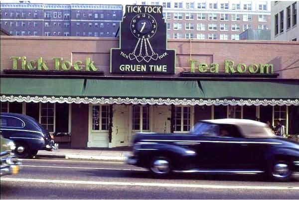 Tick Tock Tea Room at 1716 Cahuenga Blvd, Hollywood, 1950