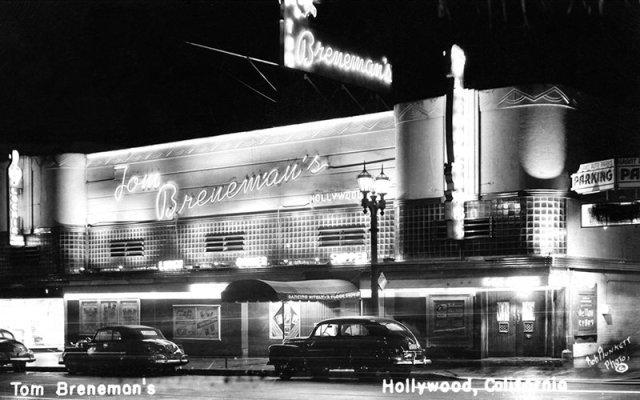 Tom Breneman's restaurant, Vine St., Hollywood, circa 1940s