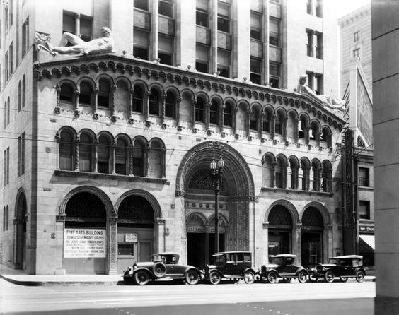 Fine Arts Building, 811 West 7th St, downtown Los Angeles, 1928