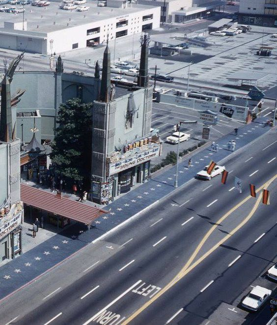 Grauman's Chinese Theatre, Hollywood Blvd, September / October 1961