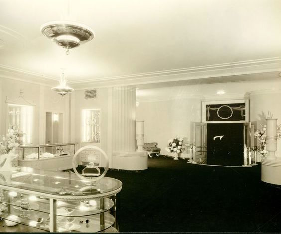 Interior of Max Factor salon on Highland Ave, Hollywood.