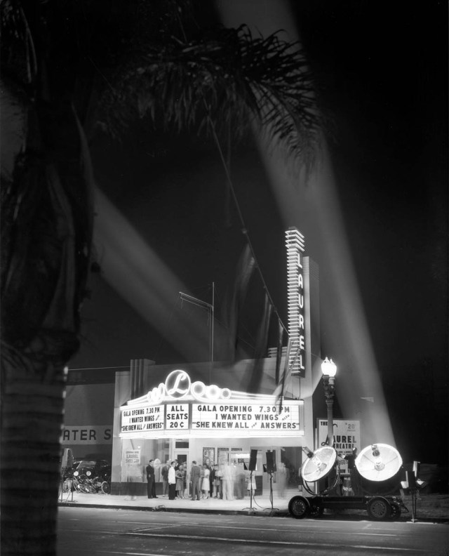 Laurel Theatre opening, 8056 Beverly Blvd, Los Angeles, March 1941