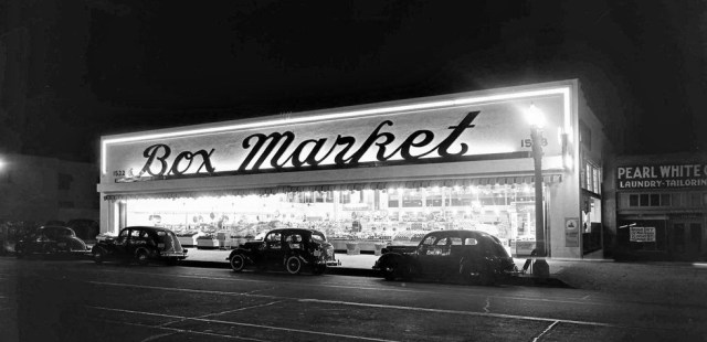 Box Market, 1532 W. Whittier Blvd, Los Angeles, May 1939