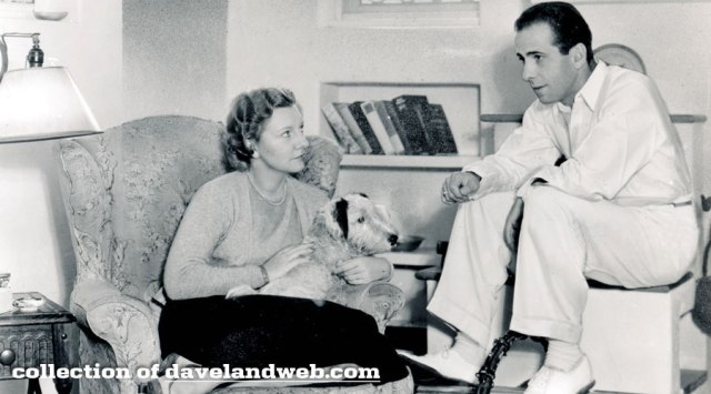 Humphrey Bogart and 2nd wife Mary Phillips at the Garden of Allah Hotel, circa mid 1930s