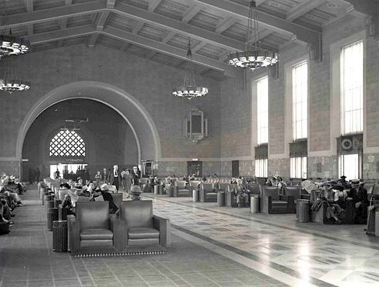 Union Railway Station downtown Los Angeles