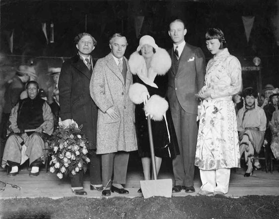 Groundbreaking ceremony for Grauman's Chinese Theater, January 1926