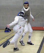 Final of the Much Wenlock Olympian Games fencing 2008