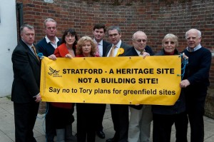 Heritage site not building site - councillors, candidates and campaigners protest