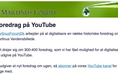 Nyhedsbrev fra MartinusForumDk