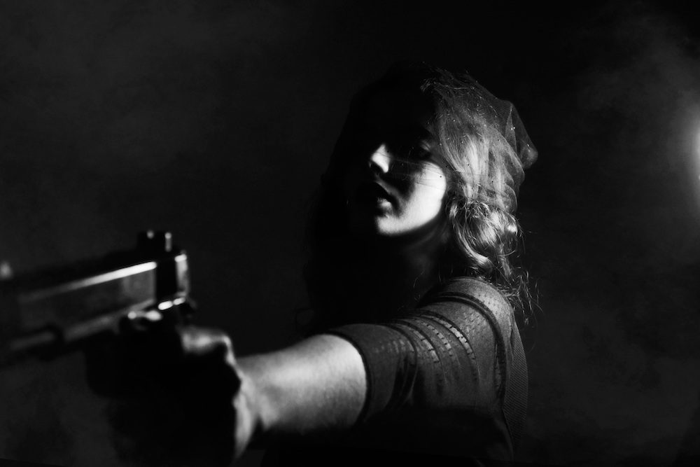 Picture of a female gun wielder