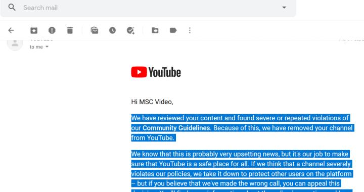 JOS CENZURA: Dictatura sinistră a You Tube mi-a interzis complet prezența pe această platformă, chiar și ca simplu consumator