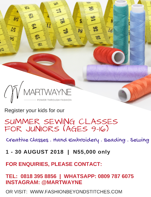 Sewing Classes for Children (ages 9 – 16)