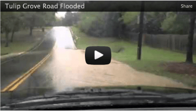 Flooded Road in Hermitage, TN