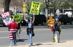 the westboro cult protestors