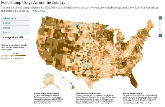 u.s. county map food stamp growth