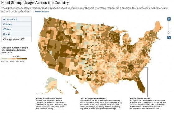 u.s. county map food stamp growth