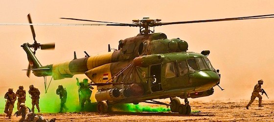 Iraqi soldiers Iraqi helicopter