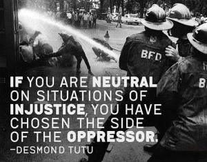 Desmund Tutu neutral injustice