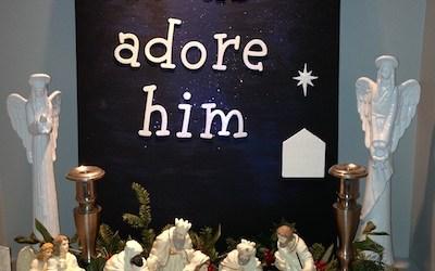 manger nativity ceramic