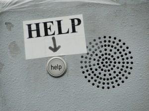 help sign help button speaker