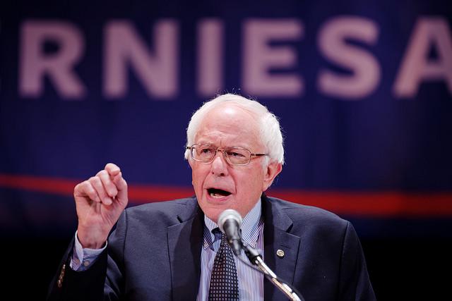 Bernie Sanders speaking
