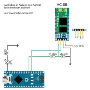 Turning a LED on and off with an Arduino, a HC06 and Android | Martyn Currey