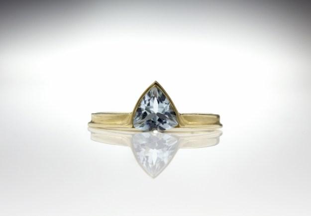 Trillion Ring – Aquamarine