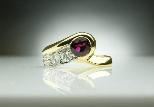 Ruby Shooting Star Ring